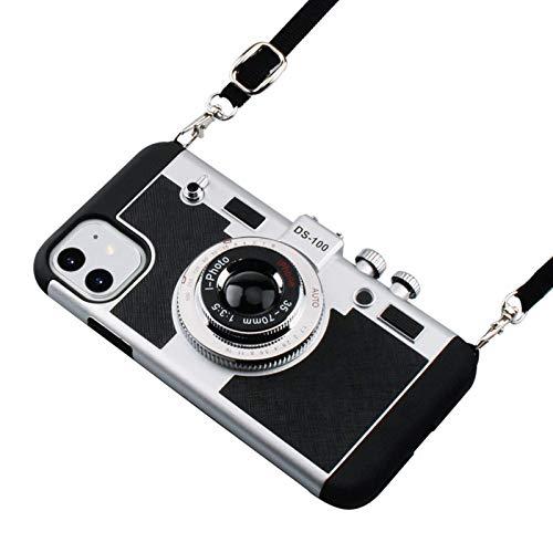 Estuche para teléfono móvil Emily in Paris, estuche anticuado para cámara para iPhone 12 11 Pro XR XS Max 6S 7 8 Plus, estuche de silicona 3D con un diseño único y genial con cordón