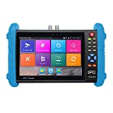 shizhongminghe-FR 7 Pouces écran IPS H.265 4K IPC-9800 Plus caméra IP CCTV CVBS testeur analogique Noir EU Plug