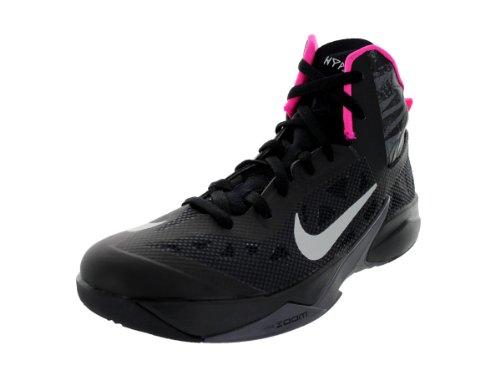 Nike, Hyperfuse 2013, Turnschuh, Farbe:Schwarz-Blau,Größe:46, Schwarz - Blck/Mtllc Slvr/Drk Gry/Pnk Fl - Größe: 41 EU M