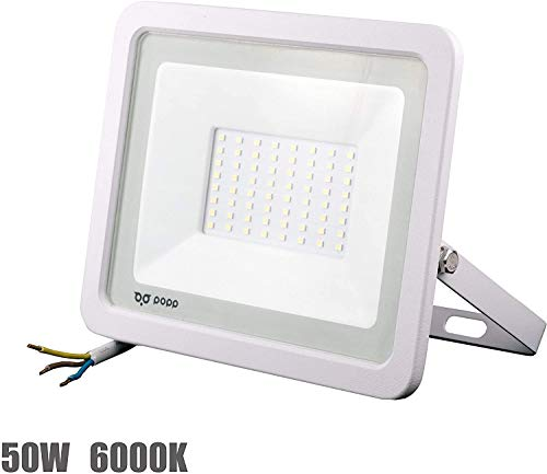 POPP® Foco Proyector Blanco LED 50W para uso Exterior