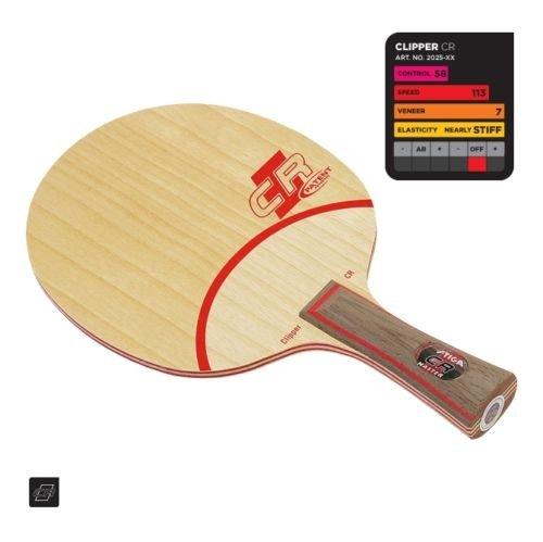 STIGA Clipper Wood (CR-WRB) Table Tennis Blade Master(FL) Handle