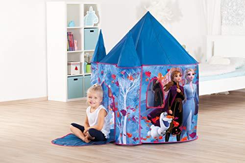 John 75117 Frozen 2 Disney Palace Deluxe Spielzelt Schloss Die Eiskönigin 2 mit Zinnen, blau