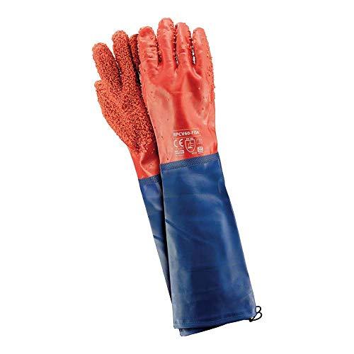 Reis Rpcv60-Fish Schutzhandschuhe, Rot-Blau, 10 (60cm) Größe, 6 Stück