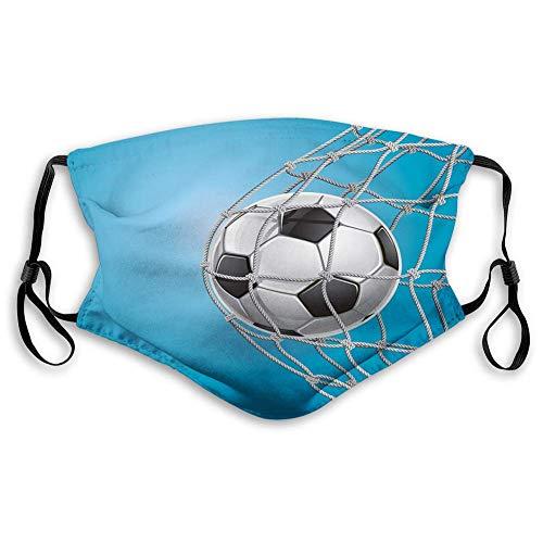 TABUE Face Guard Mundschutz Fußball, Ziel Fußball in Net Entertainment Spielen für den Gewinn eines aktiven Lebensstils, grau schwarz