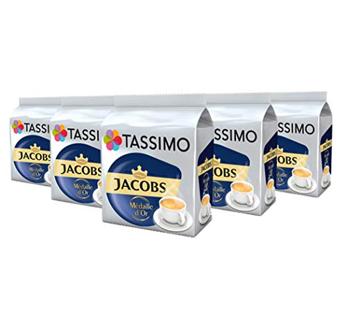 TASSIMO Jacobs Medaille d'Or Coffee Capsules Pods T-Discs Pack of 5, 80 Drinks