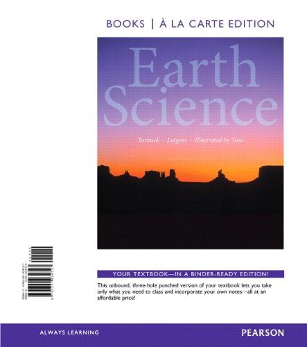 Earth Science, Books a la Carte Edition (14th Edition)