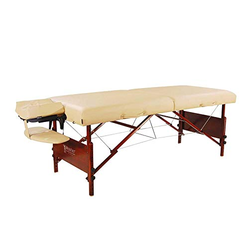 Master Massage 30' Del Ray Folding Portable Massage Table, Massage Therapy Table Height Adjsutable, With Face Cradle and Carring Case (Sand Color)