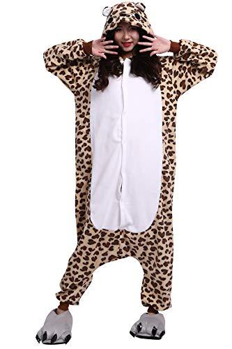Pigiama Animati Adulti Kigurumi Orso Leopardo Cartoni Animale Cosplay da Unisex