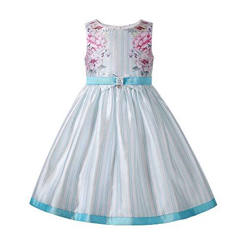 Ju petitpop Vestido Princesa Boda Graduación Moda Adolescentes Ropa Vintage Flor Rayas...