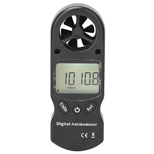 Oumefar Termómetro Multifuncional Anemómetro Digital Herramienta de medición del Volumen de Aire Medidor de Velocidad del Viento para enfriamiento del Viento para Exteriores e Interiores