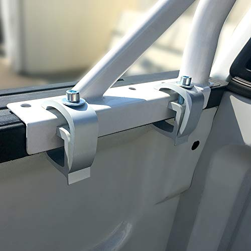 AA-Racks X35 Truck Rack with (8) Non-Drilling C-Clamps Pick-up Truck Utility Ladder Rack Matte White