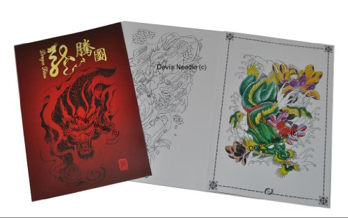 Tattoo - Libro de Flash A3 con diseño de dragón