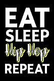 Lined Notebook Journal Eat Sleep Make Beats Repeat - Hip Hop Music Producer: Gym,Thanksgiving,2022,Management,Halloween,Goal,6x9 in,2021,Tax,Meeting,Budget Tracker,Christmas Gifts