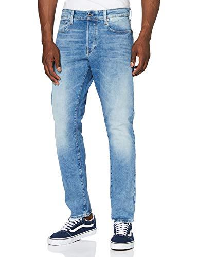 G-STAR RAW Herren Jeans 3301 Straight Tapered, Lt Indigo Aged C052-8436, 36W / 32L