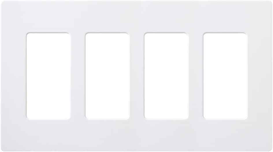 Lutron CW-4-WH-12 Claro 4-Gang Classic Wallplate Low price White 12-Pack