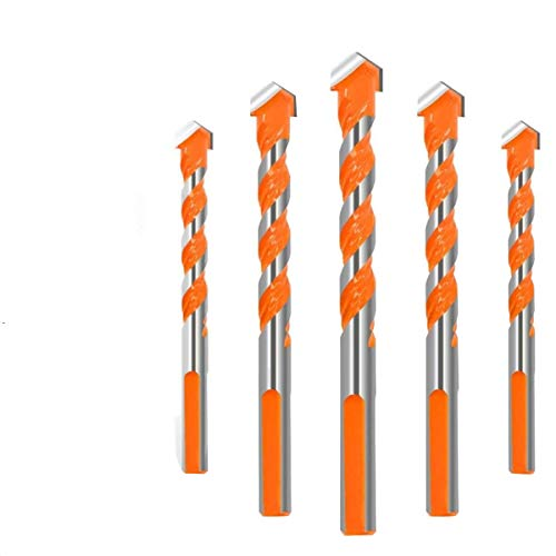 ZANYUYU Broca de 6/6/8 / 810mm triangular-overlord Handle multifuncionales brocas helicoidales Taladro Set 5Pcs accesorios del taladro