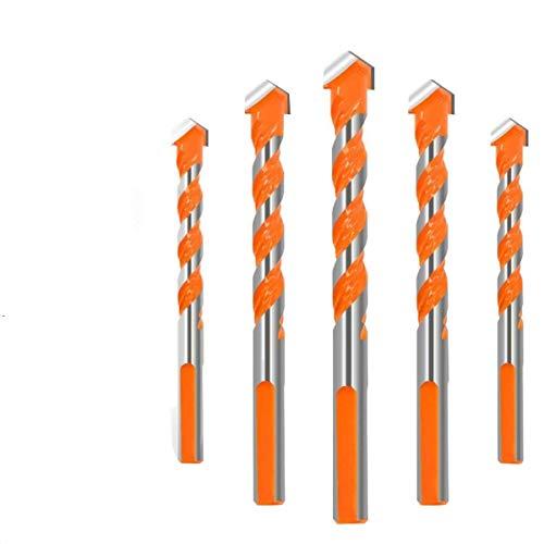 CT-CT Drill Drill 6/6/8/810mm Triangular-overlord Handle Multifunctional Drill Bits Twist Drill Set 5Pcs Drill Accessories Tools