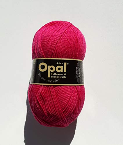 Opal uni 4-fach - 5194 pink - 100g Sockenwolle