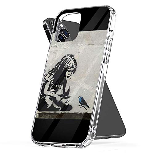 Phone Case Banksy Girl with Blue Bird Compatible with iPhone 6 6s 7 8 X XS XR 11 Pro Max SE 2020 Samsung Galaxy Waterproof Drop Shockproof