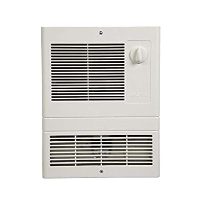 Broan-NuTone 9815WH Grille Heater with Built-In Adjustable Thermostat, 1500W, 120/240V, White