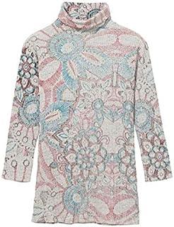 デシグアル(Desigual) ハイネック花柄Tシャツ Brooklyn