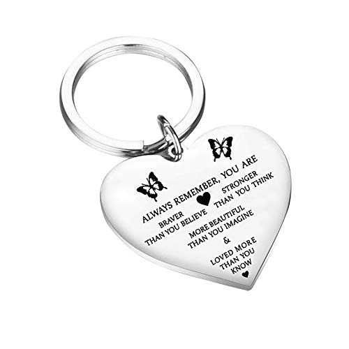 Gifts for Mum Dad Keyring from Son Daughter, Stainless Steel Keychain Key Ring Chain for Women Men, Mothers Day, Fathers Day, Birthday Gifts