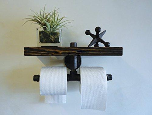 INTASHJ Retro Thuis Waterpijp Tissue Handdoek Wanddoek Met Separator Effen Houten Plank Industriële Stijl Plank