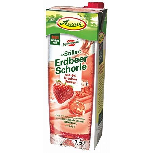 Lausitzer Stille Schorlen - Stille Erdbeer Schorle (8 x1,5 l)