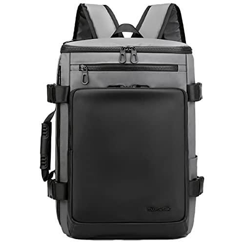 CKNELBAG Borse maschili Retrò panno di nylon impermeabile Zaino da Viaggio Multifunzione Alta capacità Borse per PC portatili grigio