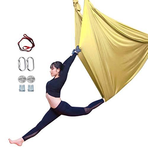 YOGA-YU - Hamaca de yoga aérea saludable modelo Life Premium de seda para yoga antigravedad, flexibilidad mejorada y fuerza de núcleo-9 m