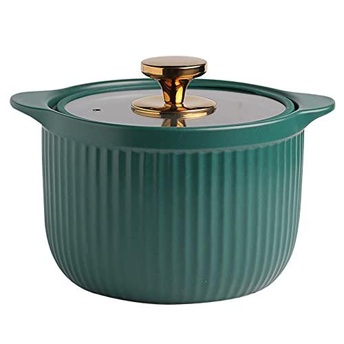 Terracotta gryta gryta keramisk gryta gas spis soppgryta skandinavisk stil 3,5 l stor kapacitet – 3,5 l