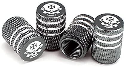 4 Piezas Tapas Para Válvulas, para 16mm Knurling Style Skull Neumático Automóvil Prueba De Polvo Antirrobo Aleación Aluminio Neumático Accesorios
