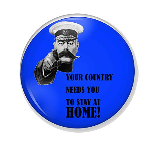 Gifts & Gadgets Co. You Country Needs You To Stay At Home Miroir de maquillage rond 58 mm imprimé fantaisie idéal pour sac à main ou poche