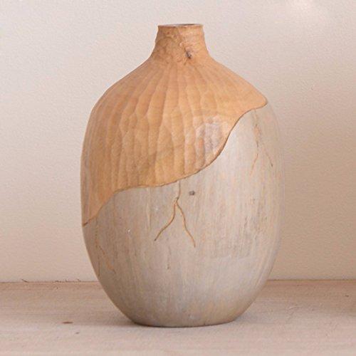 JRFBA Vase Tableau Décoration Crafts Ornement Fleurs Chinois Fleurs Bois Ameublement De Maison Trois Bouteilles De Salon,18X 26Cm (D X H)