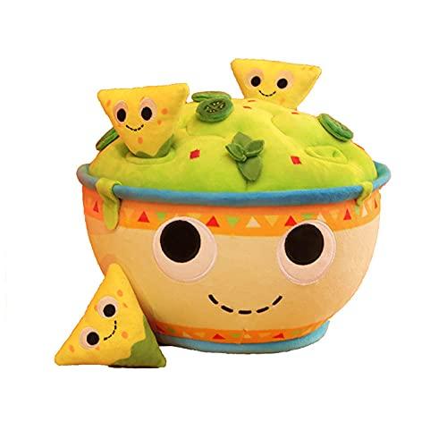 YZGSBBX 30 cm gefüllte salatschüssel Spielzeug Mini käse Kekse gemüse weiche Lebensmittel Prop Decor plushie Jungen mädchen Plüschspielzeug (Color : Green, Größe : 30cm)