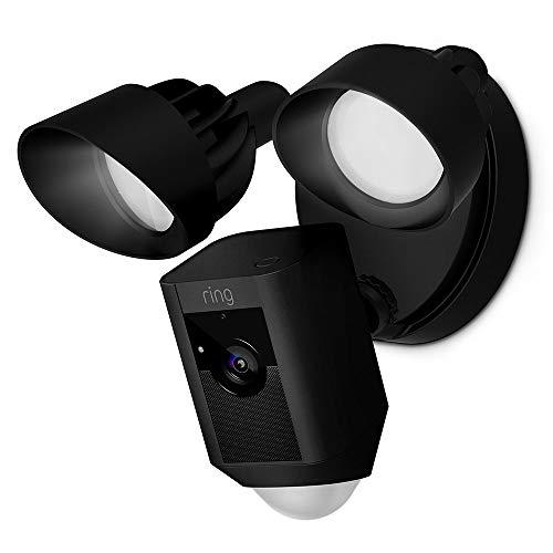 Ring Floodlight Cam, HD-beveiligingscamera met ingebouwde schijnwerpers, tweeweg-audio en een alarm, zwart