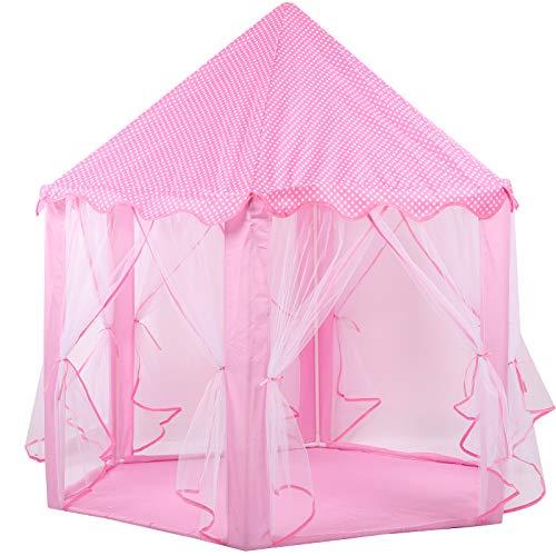 Fockety Carpa para niños, Carpa Princess Castle, Carpa de casa de Juegos Segura, fácil de Montar, Estable, Patios Traseros