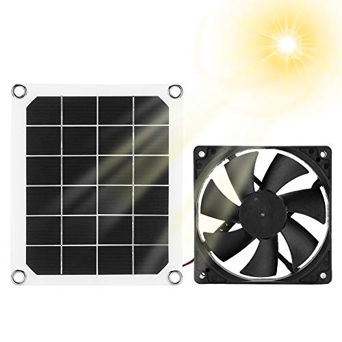 Ventilatore di Scarico del Pannello Solare, Ventilatore di Scarico Solare Impermeabile IP65 Esterno, Ventilatore di Scarico Portatile per Camper, Serre, Case per Animali Domestici, Pollaio