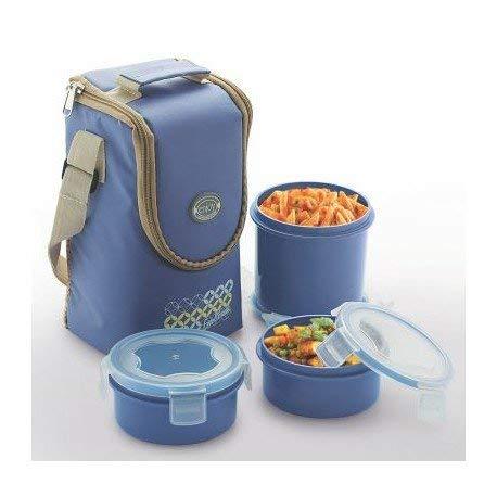ENJOY* LUNCH SET 7 pcs sac en tissu, conteneurs, couverts (cuillère, fourchette, couteau)
