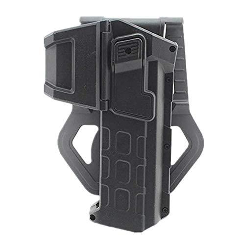 Gexgune Funda de Pistola portátil táctica con Linterna o Funda de Pistola de cinturón de Cintura Derecha montada con láser para Colt 1911