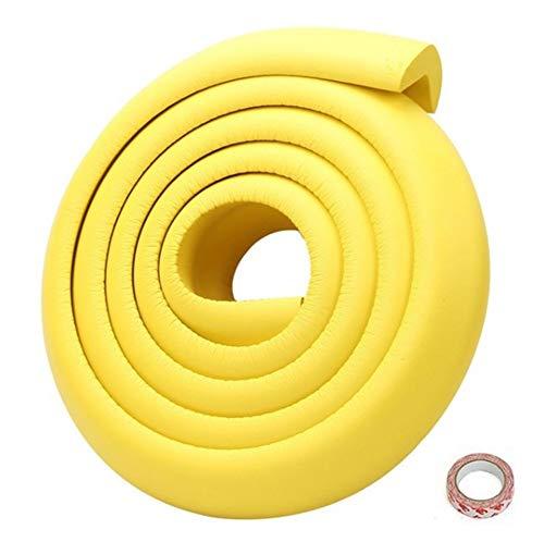 Protectores de bordes de mesa de muebles 2 m de espuma no tóxica para bebés protector de parachoques para niños, a prueba de mesa, tiras de plástico de goma suave para armarios de chimenea