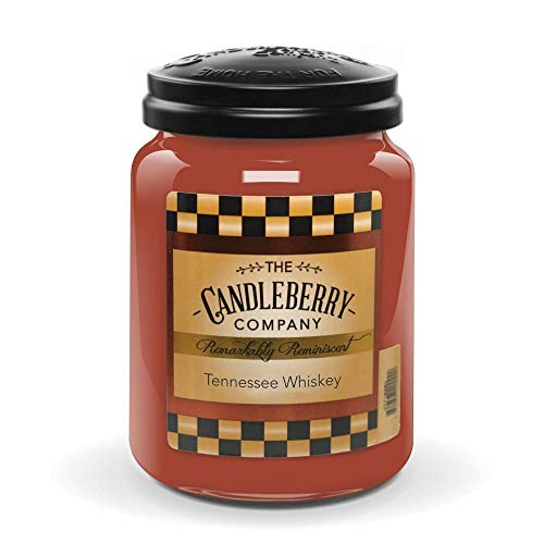 Candleberry Candles   Strong Fragrances for Home   Hand Poured in The USA   Highly Scented & Long Lasting   Large Jar 26 oz (Tennessee Whiskey)