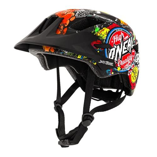 O'NEAL | Casco da Mountain Bike | Bambini | Enduro All-Mountain | Fodera rimovibile, chiusura magnetica Fidlock, tessuto a rete | Rooky Youth Helmet Crank | Multi | Taglia XXS