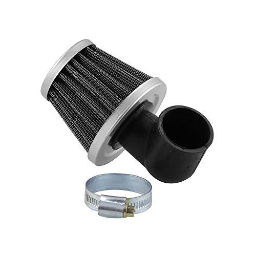 FUNRE Motorcycle Universal Air Filter 90 Degree Bend Elbow 35mm Zero Resistance Filter for Motorcycle ATV Pocket Bike Moto (Color : Black)