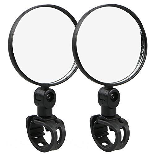 COLNER Bike Mirror, Adjustable Handlebar Rear View Mirrors for Mountain Road Bike Bicycle Electric Motorcycle (Black)