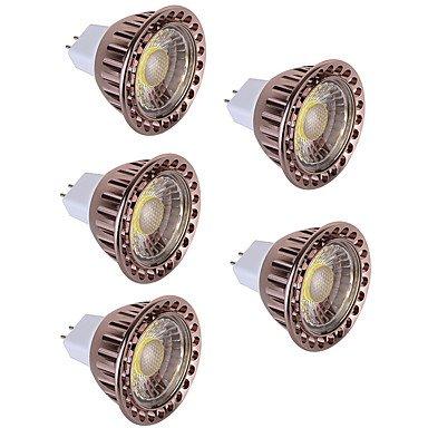 5W LED Spot Lampen MR16 1 COB 350 lm Warmes Weiß Kühles Weiß Dekorativ DC 12 V 5 Stück , warm white
