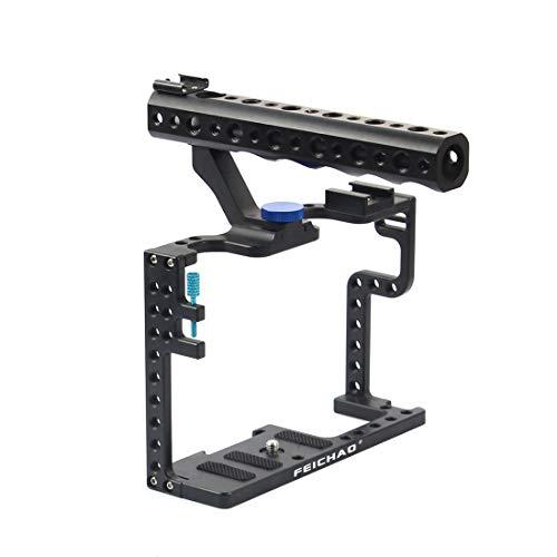 FEICHAO Juego de Jaula de Aluminio para cámara réflex Digital con Mango Superior para cámara Panasonic Lumix GH5