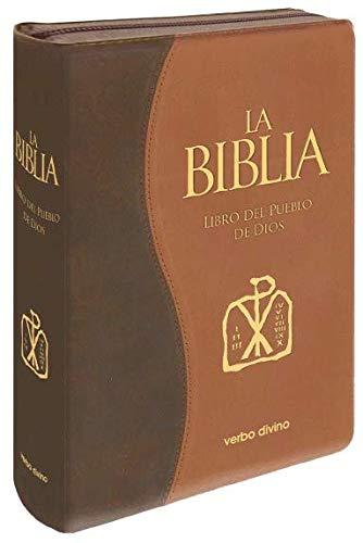 La Biblia. Libro del Pueblo de Dios: Edición símil piel bitono con cremallera