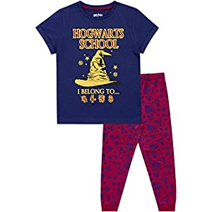 HARRY POTTER Pijamas de Manga Corta para niñas Hogwarts 17
