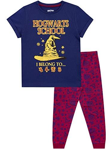 Harry Potter Mädchen Hogwarts Schlafanzug Blau 152
